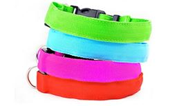 Premium Safety Dog Collar LED Dog Collar for Safe Night Walks with your Pet (1 BLUE, 1 ORANGE)