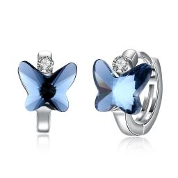 Blue Topaz Sterling Silver Earring