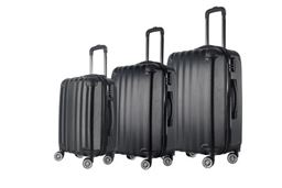 Brio Luggage Hardside Spinner Luggage Set #1331 - Black