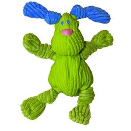 HuggleHounds Extremely Durable and Squeaky Ruff-Tex Dog Toy, Bunny Bugsy, Large