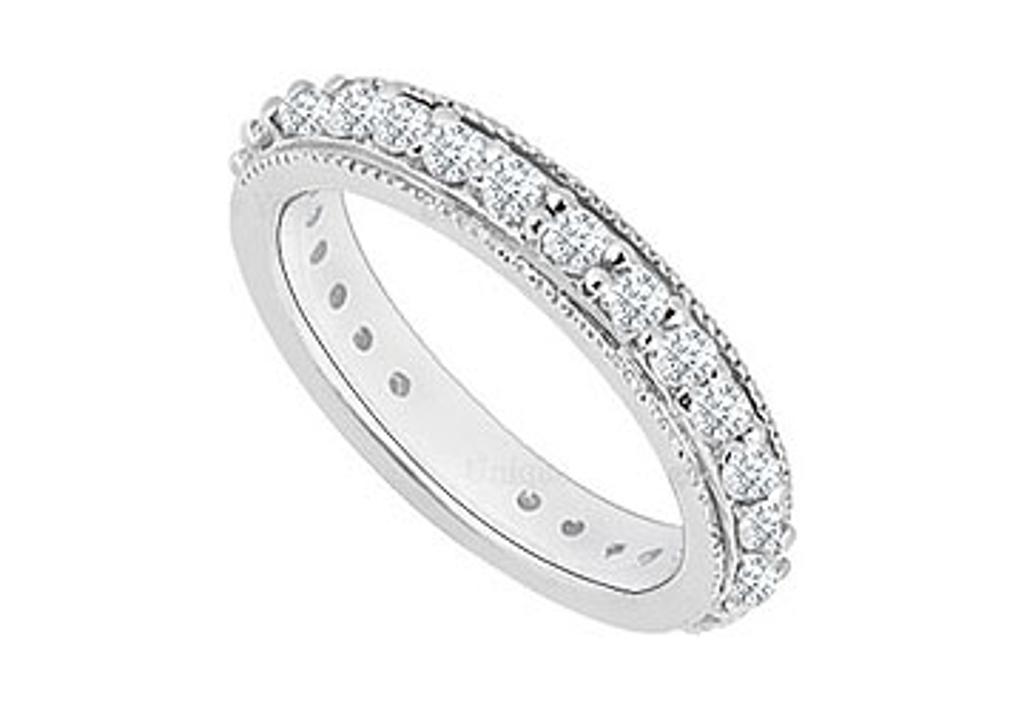 14K White Gold Diamond Wedding Band 0.35 CT TDW