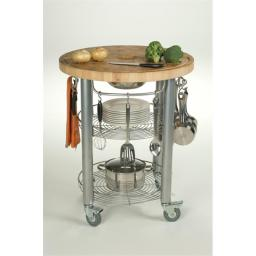 Chris & Chris JET1222 Stadium Kitchen Work Station With Wood Top