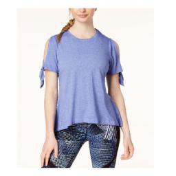 Calvin Klein Women's Icy Wash Cold-Shoulder Vented- Ultramarine Size Extra Large