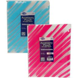 DDI 2275095 Zippered Pencil Pouch for Binders Case of 60
