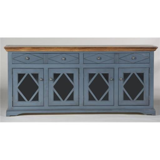 Eagle Furniture SB321771SSCR 71 in. Caribbean Rum Shelter Bay Credenza & Console, Summer Sage
