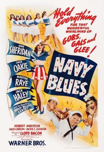 Navy Blues Us Poster From Left: Ann Sheridan Jack Haley Jack Oakie Martha Raye On Midget Window Card 1941 Movie Poster Masterprint FA8BS7GALUNWTGPV