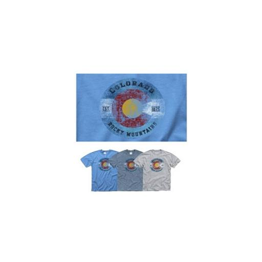 Misc novelty clothing c5902grlg colorado rocky mountain t-shirt grey large