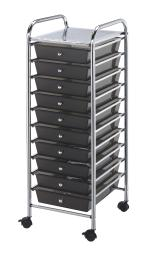 Alvin sc10sm storage cart 10-drawer (standard) smoke