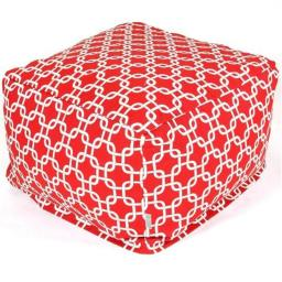 Majestic Home Red Links Large Ottoman