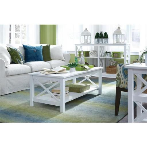 International Concepts OT08-70C Hampton Pure White Coffee Table