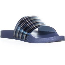 Kenneth Cole REACTION Pool Pipes Flat Slide Sandals, Storm Pool Pipes