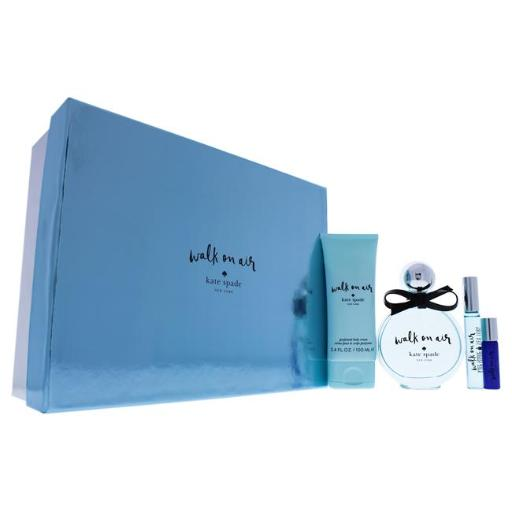 Kate Spade 2017S Walk On Air By Kate Spade For Women - 4 Pc Gift Set 3.4Oz Edp Spray, 3.4Oz Body Lotion, 0.34Oz Edp Roll