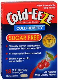 Cold-eeze Lozenges Sugar Free Wild Cherry Flavor - 18 Ct., Pack Of 4