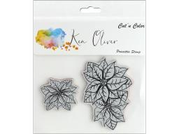 Cttkn009s contact crafts koliver stamp poinsettia