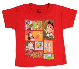 Jake And The Neverland Pirates Toddler Boys' Distressed T-Shirt