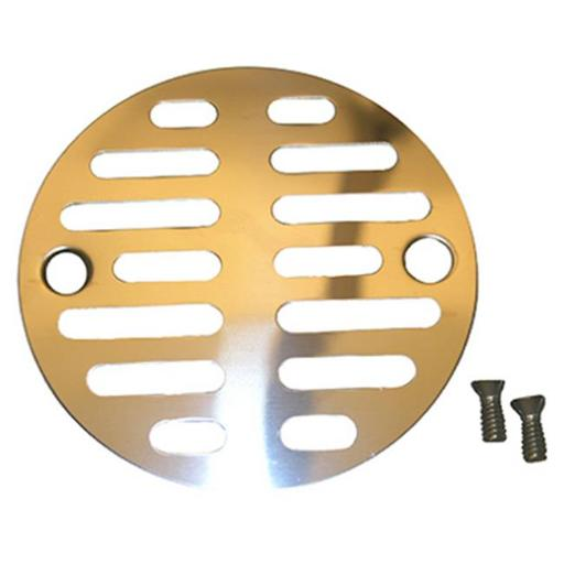 03-1247 3.5 in. Chrome Plated Shower Drain Grill