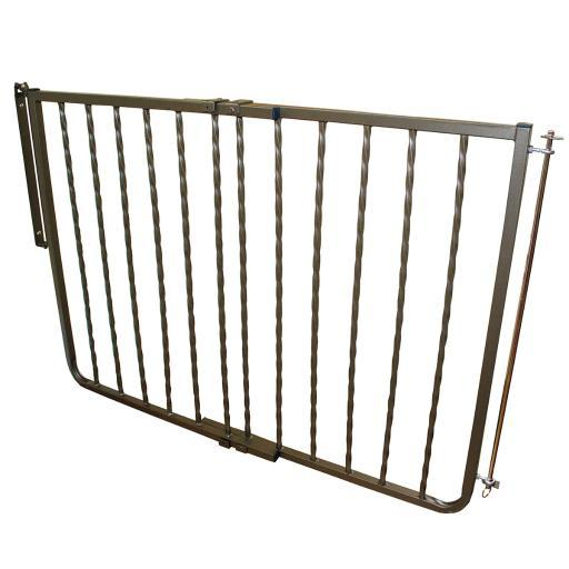 Cardinal Gates Wix-Bz Bronze Cardinal Gates Wrought Iron Decor Hardware Mounted Pet Gate Extension Bronze 10.5 X 1.5