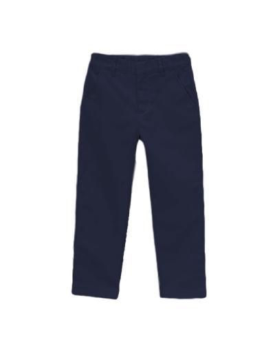 Unik Little Boys Navy Tapered Cut Uniform Pants 5-6