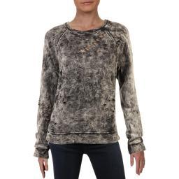 Black Orchid Womens Side Zip Tie Dye Sweatshirt