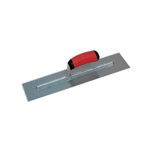 NT676 11 x 4.5 in. Soft Grip Notched Trowel with V-Soft Grip Handle