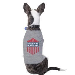 American Warrior Gray Cute Graphic Pets Shirt For Independence Day