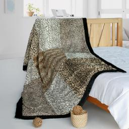 "Onitiva - Modern Art Animal Style Patchwork Throw Blanket (61""-86.6"")"