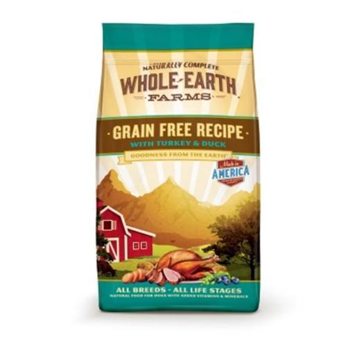 Animal Supply Company WE85584 Whole Earth Farms Turkey And Duck Grain Free Recipe Pet Food - 25 lbs.