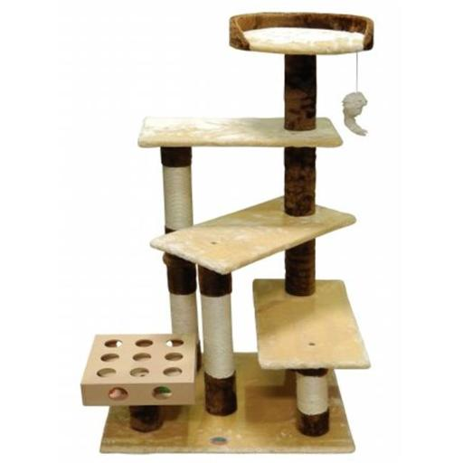 Go Pet Club SF052 IQ Busy Box Cat Tree House Toy Condo Pet Furniture, 26 W x 21 L x 45 H in.