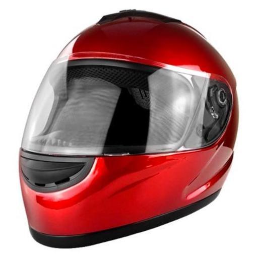 RS Helmets RS-0700B-Red-Medium Full Face Motorcycle Helmet with Flip Up Visor Gloss Red - Medium 4B7DF9C46622EA12