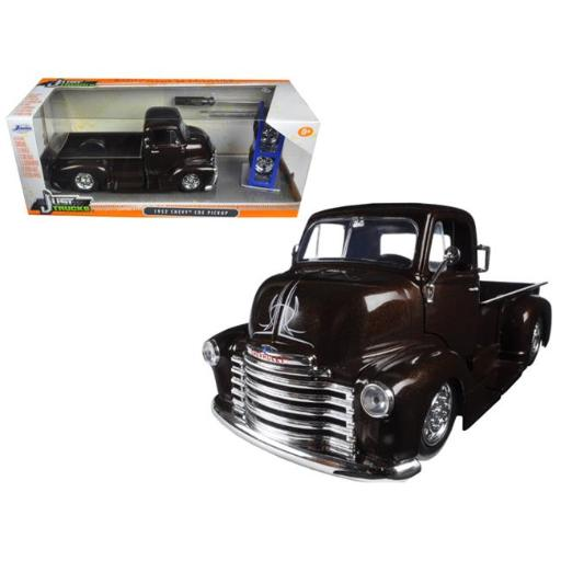 Jada 98021 1 by 24 Scale Diecast 1952 Chevrolet COE Pickup Truck Brown Just Trucks with Extra Wheels Model Car