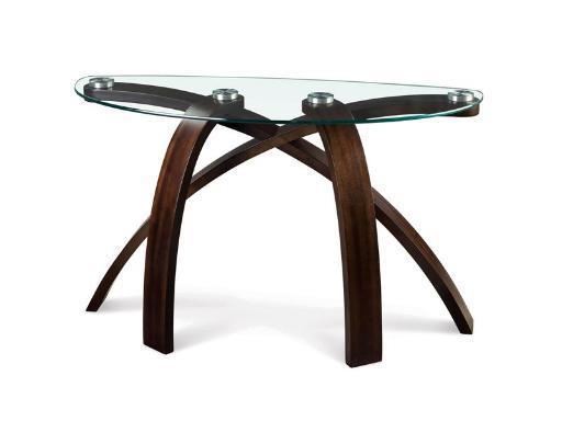 Magnussen T1396-75 Allure Hazelnut Finish Wood and Glass Sofa Table