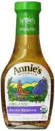 Annie's Naturals Asian Sesame Dressing - Organic, 8-Ounce (Pack of 6)