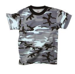 Boys Sky Blue Camo T-Shirt