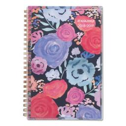 ATA Glance 1101201A 8 x 4.87 in. Academic Weekly Planners, Midnight Rose