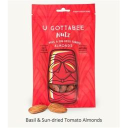 U Gottabee Nutz 314486 4 oz Nut Almond Basil Sun Dried Tomato - Pack of 12