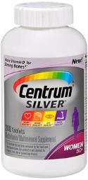 Centrum Silver Women 50+ Multivitamin/multimineral Supplement - 200 Tablets, Pack Of 2
