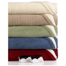 Biddeford MicroPlush Sherpa Electric Heated Warming Blanket Twin Full Queen King 2063-9052140-500