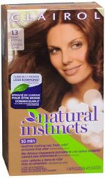 Clairol Natural Instincts Hair Color 13 Suede (light Brown), Pack Of 4