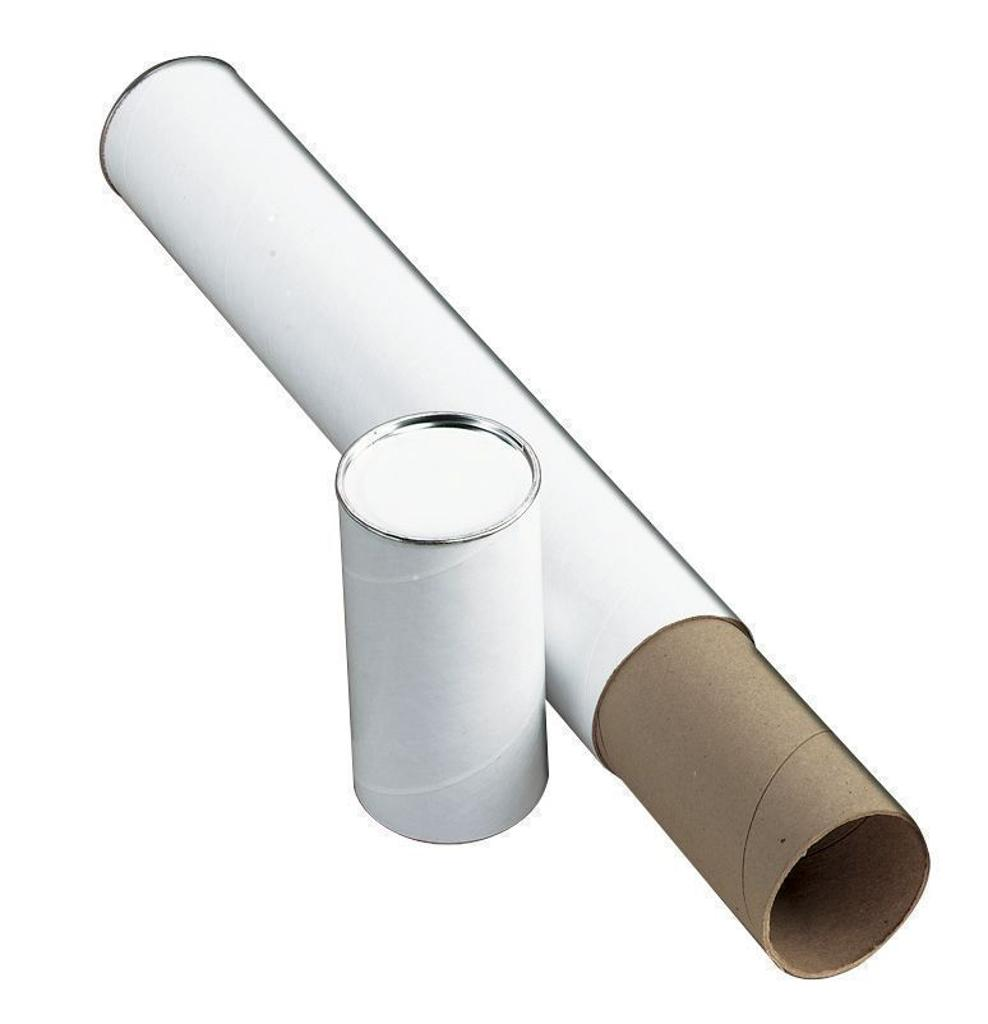 """Alvin t417-25/bx white fiberboard tubes 25"""""""