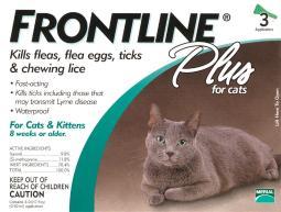Frontline Plus Liquid Cat Flea and Tick Drops 9.8% Fibronil, 8.8% (S)-methoprene 0.02 oz. - Case Of: 1;