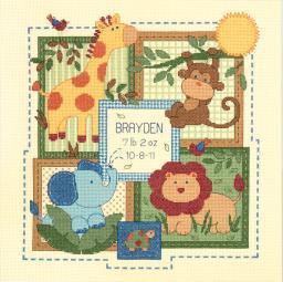 Baby Hugs Savannah Birth Record Counted Cross Stitch Kit 70-73543