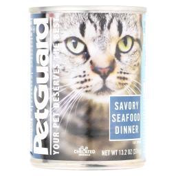 Petguard Cats Food - Savory Seafood Dinner - Case of 12 - 13.2 oz.
