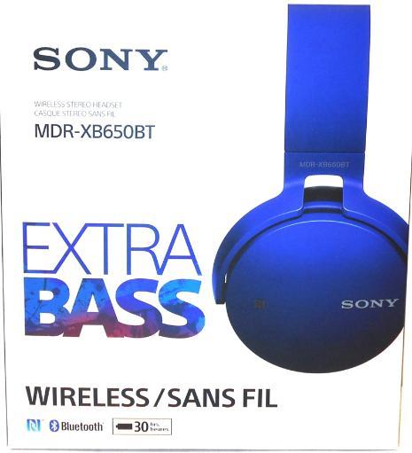 Sony XB650BT Extra Bass Bluetooth Headphones - Stereo - Blue - Wireless - Bluetooth - 24 Ohm - 20 Hz E7REFYKE4QNS1IWC