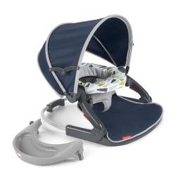 Fisher-price on-the-go sit-me-up floor seat - citron wedges gng37