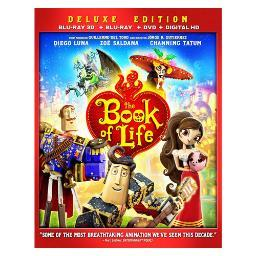 Book of life (blu-ray/3d/dvd/digital hd/3 disc/re-pkgd) (3-d) BR2343235
