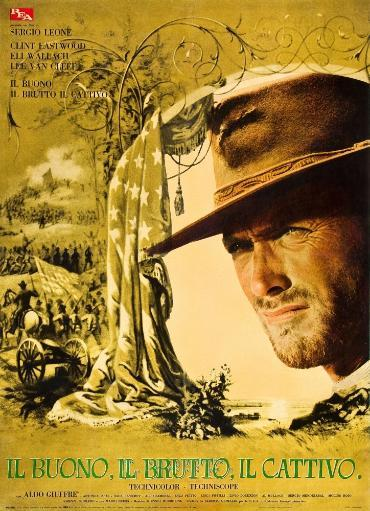 The Good The Bad And The Ugly Clint Eastwood On Italian Poste Rart 1966. Movie Poster Masterprint