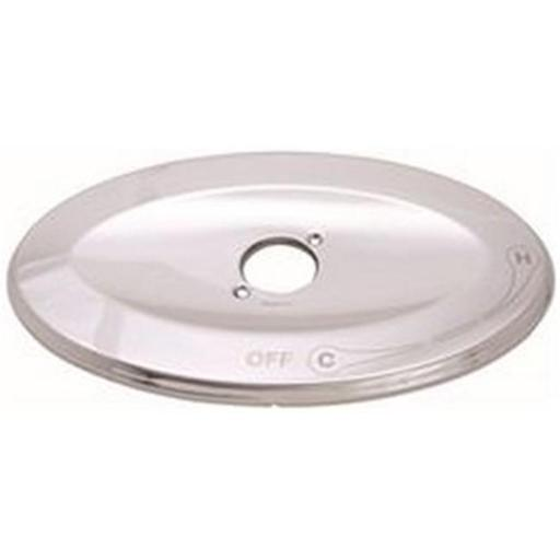 Premier 133949 Heavy-Duty Brass Remodel Plate Escutcheon For Tub And Shower Chrome Plated
