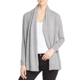 Cashmere Womens Basic Open Front Cardigan Sweater