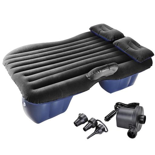 Yescom Car Air Bed Inflatable Mattress Travel Camping Backseat Cushion w/ Pillow Pump