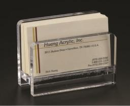 Acrylic Lucite Clear Business Card Stand